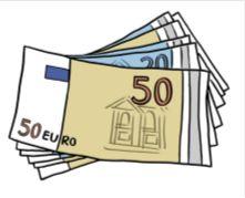 Zeichnung von Geldscheinen